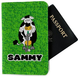 Cow Golfer Passport Holder - Fabric (Personalized)