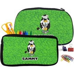 Cow Golfer Pencil / School Supplies Bag (Personalized)