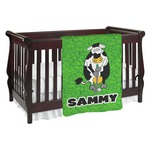 Cow Golfer Baby Blanket (Personalized)