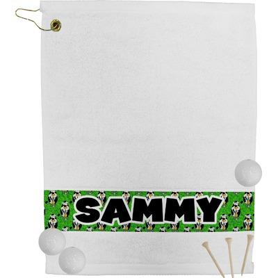 Cow Golfer Golf Bag Towel (Personalized)