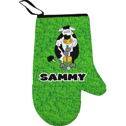 Cow Golfer Oven Mitt (Personalized)