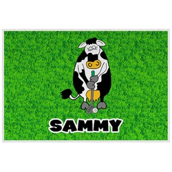 Cow Golfer Laminated Placemat w/ Name or Text