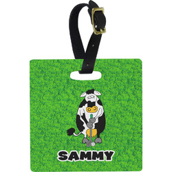 Cow Golfer Luggage Tags (Personalized)