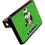Cow Golfer Rectangular Trailer Hitch Cover - 2