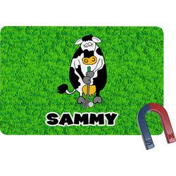 Cow Golfer Rectangular Fridge Magnet (Personalized)