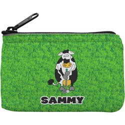 Cow Golfer Rectangular Coin Purse (Personalized)