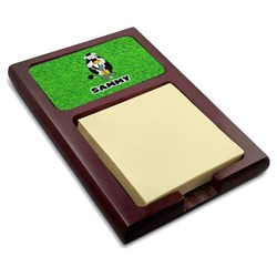 Cow Golfer Red Mahogany Sticky Note Holder (Personalized)