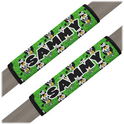 Cow Golfer Seat Belt Covers (Set of 2) (Personalized)
