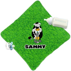 Cow Golfer Security Blanket (Personalized)