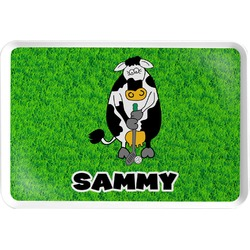 Cow Golfer Serving Tray (Personalized)