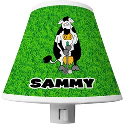 Cow Golfer Shade Night Light (Personalized)