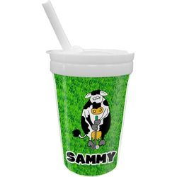Cow Golfer Sippy Cup with Straw (Personalized)