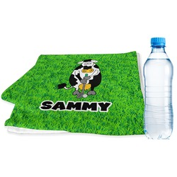 Cow Golfer Sports & Fitness Towel (Personalized)