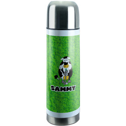 Cow Golfer Stainless Steel Thermos (Personalized)
