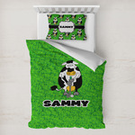 Cow Golfer Toddler Bedding w/ Name or Text