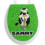 Cow Golfer Toilet Seat Decal (Personalized)