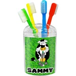 Cow Golfer Toothbrush Holder (Personalized)