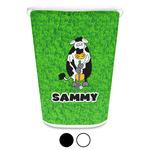 Cow Golfer Waste Basket (Personalized)