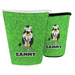 Cow Golfer Waste Basket (Personalized)