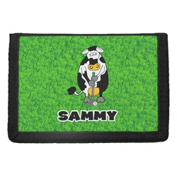 Cow Golfer Trifold Wallet (Personalized)