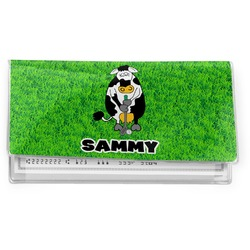 Cow Golfer Vinyl Checkbook Cover (Personalized)