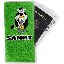 Cow Golfer Travel Document Holder