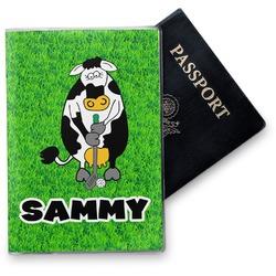 Cow Golfer Vinyl Passport Holder (Personalized)