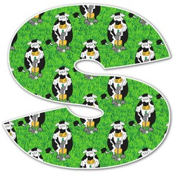 Cow Golfer Letter Decal - Custom Sized (Personalized)
