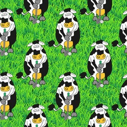 Cow Golfer Wallpaper & Surface Covering