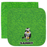 Cow Golfer Facecloth / Wash Cloth (Personalized)