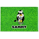 Cow Golfer Woven Mat (Personalized)