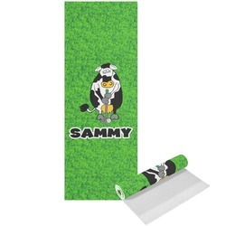 Cow Golfer Yoga Mat - Printed Front (Personalized)