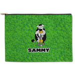 Cow Golfer Zipper Pouch (Personalized)
