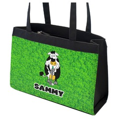 Cow Golfer Zippered Everyday Tote w/ Name or Text
