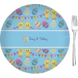 """Happy Easter 8"""" Glass Appetizer / Dessert Plates - Single or Set (Personalized)"""