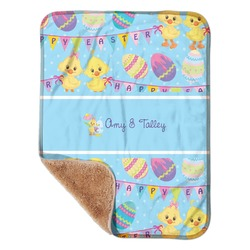 """Happy Easter Sherpa Baby Blanket 30"""" x 40"""" (Personalized)"""