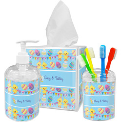 Happy Easter Acrylic Bathroom Accessories Set w/ Multiple Names
