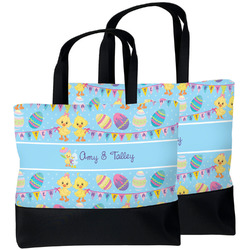 Happy Easter Beach Tote Bag (Personalized)