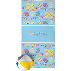 Happy Easter Beach Towel (Personalized)