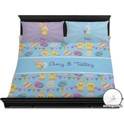 Happy Easter Duvet Cover Set - King (Personalized)