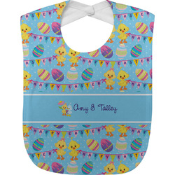 Happy Easter Jersey Knit Baby Bib w/ Multiple Names