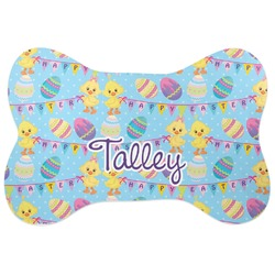 Happy Easter Bone Shaped Dog Food Mat (Personalized)