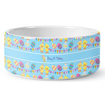 Happy Easter Ceramic Dog Bowl (Personalized)