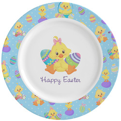 Happy Easter Ceramic Dinner Plates (Set of 4) (Personalized)
