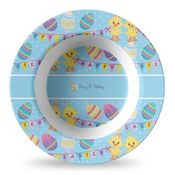 Happy Easter Plastic Bowl - Microwave Safe - Composite Polymer (Personalized)