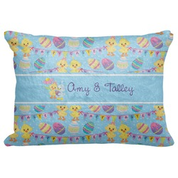 "Happy Easter Decorative Baby Pillowcase - 16""x12"" (Personalized)"