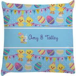 Happy Easter Decorative Pillow Case (Personalized)