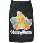 Happy Easter Black Pet Shirt (Personalized)
