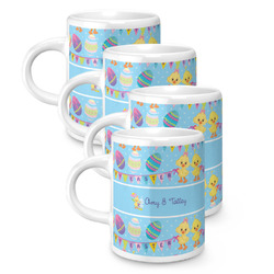 Happy Easter Espresso Mugs - Set of 4 (Personalized)