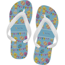 Happy Easter Flip Flops - Large (Personalized)